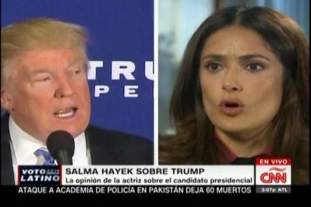 Salma Hayek dice: Donald Trump trató de conquistarla y tiene una opinión muy personal