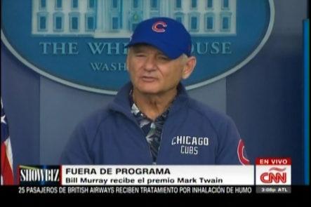 Bill Murray recibe el premio Mark Twain en la Casa Blanca