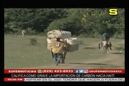 Ministro de Medio ambiente y recursos naturales, Francisco Dominguez Brito se siente preocupado por la importación de carbón hacia Haití