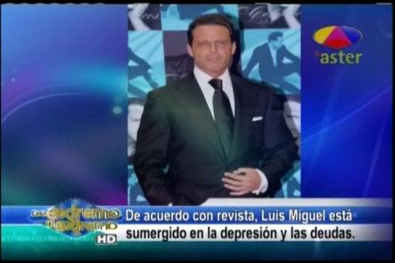 Farándula Extrema Jary Ramírez comenta la situación real del cantante Luis Miguel, quien está sumergido en la depresión y las deudas