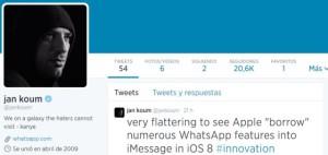 Jan Koum critica la copia de funciones de su sistema de mensajería