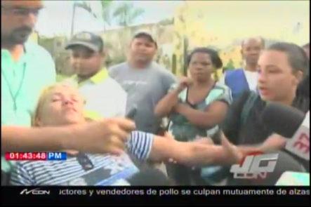 Mujer Se Pone Mala Se Desmaya Cuando Narraba Lo Que Había Ocurrido En El Motín En Cárcel De La Vega #Video