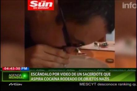 Genera Escándalo Video Donde Sacerdote Se Da Una Línea De Cocaína Por La Nariz #Video
