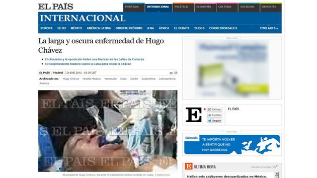 'El País' eliminó más tarde la imagen de su web y retiró la primera edición impresa al comprobar el error