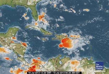 Tormenta Chantal se debilita al sur de RD y podría degenerar en onda tropical