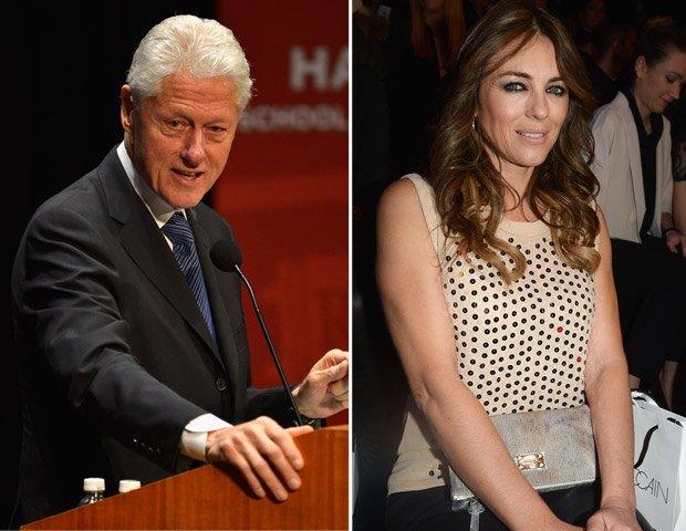 Actriz británica Liz Hurley desmiente un romance con Bill Clinton