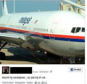 Pasajero publicó foto del avión malasio ´por si desaparecía´