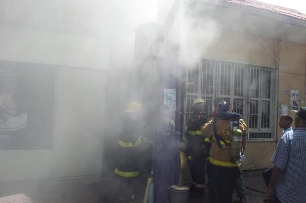 Evacuan de emergencia clínica Corominas por incendio