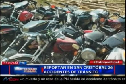 """San Cristobal: Reportan 26 Accidentes De Tránsito """"Todos En Motocicletas"""""""