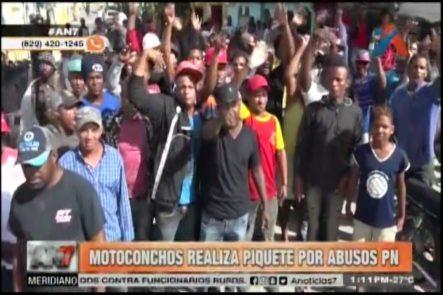 Motoconchos Realizan Piquete Por Abusos Agentes PN