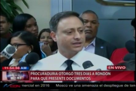 El Procurador Revela Lo Que Ocurrió Durante El Interrogatorio A Ángel Rondón