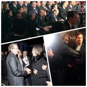 """Carlos Villagran """"Kiko"""" asistio a honras fúnebres de #Chespirito y abrazo a doña #Florinda tras años de diferencias ."""