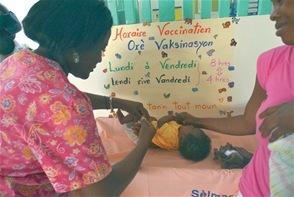 La demanda de atención médica de los pobladores de la zona Norte de Haití supera la capacidad de respuesta. Muchos de los centros desarrollan programas especiales dirigidos a la atención de la salud de la madre y de los niños