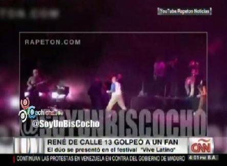 René De Calle 13 Golpeó A Un Fanático Durante Presentación Musical #Video