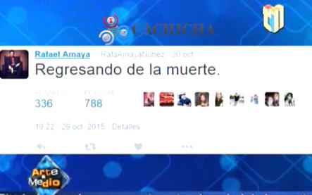 Hospitalizan a Rafael Amaya por supuesta sobredosis #Video