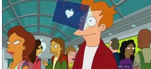 "Google patentó el eyephone que predijo ""Futurama"""
