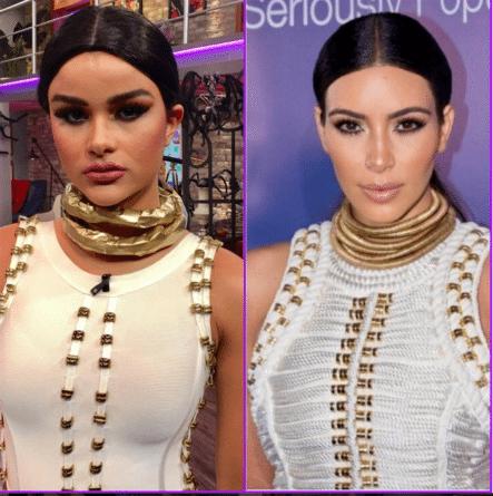 Clarissa Molina  Se Disfraza De Kim Kardashian Para Halloween En El Gordo Y La Flaca
