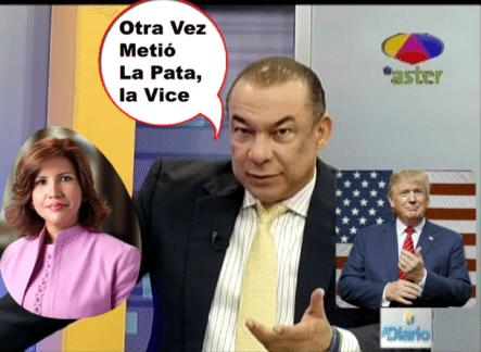 """La Vice-Presidenta Margarita Cedeño, Vuelve A Causar Controversia Por Articulo Sobre El Gobierno De Trump, """"Augura Las Terribles Consecuencias Que Traerá El  Magnate A RD"""""""