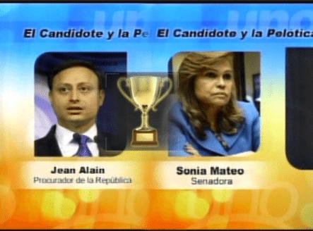 Candidatos A La Pelótica De La Semana: Sonia Mateo Vs Jean Alain Rodríguez ¿Quién Ganará?