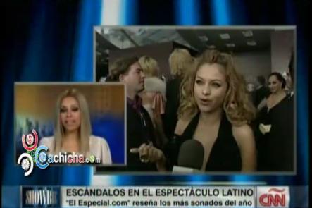 Resumen De Los Escándalos Del 2013 En La Farándula Latina @MarielaCNN