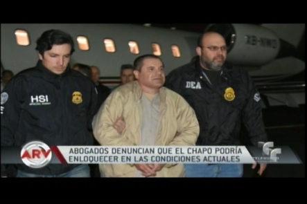Debido Al Encierro Extremo El Chapo Guzmán Podría Quedar Loco Según Abogados