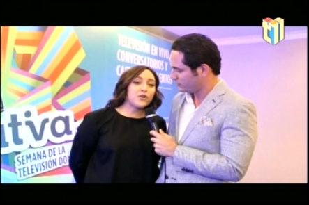 """Edilenia Tactuk nos da algunos detalles de lo que trae """"La Semana de la TV Dominicana"""""""