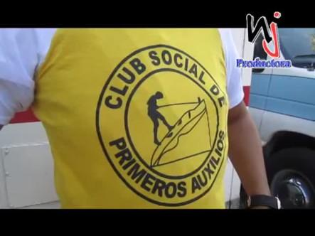 Jóvenes Voluntarios En Moca Que Trabajan Como Primeros Auxilios