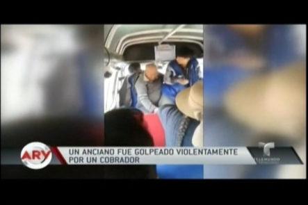 Anciano Fue Golpeado Por El Cobrador De Un Autobús