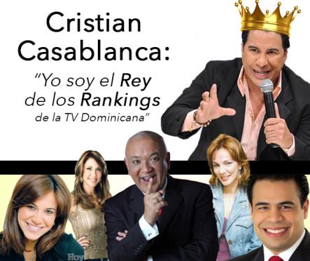 """Cristian Casa Blanca: """"Yo Soy El Rey De Los Ranking De La TV Dominicana"""" #Video"""