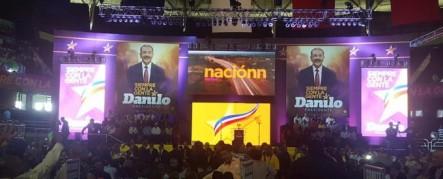 Inicia Acto De Lanzamiento De Candidatura De Danilo Medina En El Palacio De Los Deportes