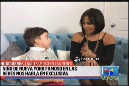 Derek El Niño Famoso En Las Redes Sociales Llega A Despierta América