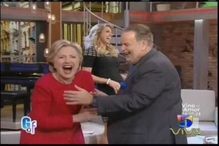 Entrevista en Exclusiva a la Candidata Presidencial Hillary Clinton en El Gordo y La Flaca