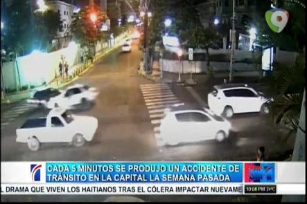 Cada 5 minutos se produjo un accidente de tránsito en la capital la semana pasada