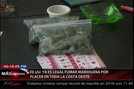 En Toda La Costa Oeste De Los Estados Unidos, Ya Es Legal Fumar Marihuana Y Cultivarla