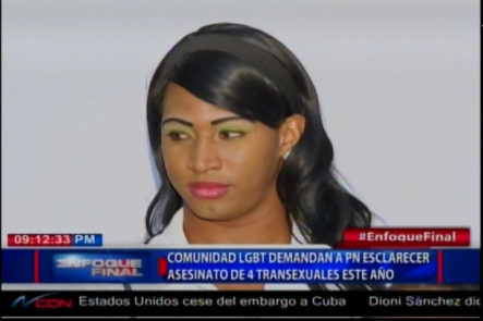 Comunidad LGTB Demandan a PN Esclarecer Asesinato de 4 Transexuales Este Año