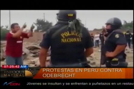 Protesta Contra Odebrecht En Perú: Como Frisar La Conciencia De Un Policía Anti Disturbio