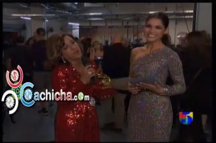 Entrevista A Milly Quezada Luego De Ganar El Gammy Latino #LatinGrammy 2012 #Vídeo