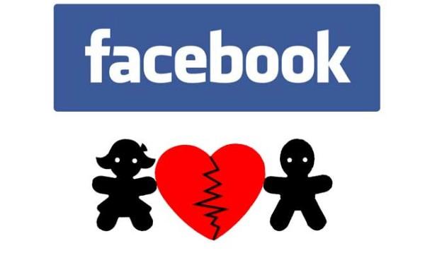 separación sentimental con Facebook