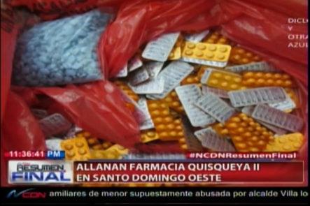Allanan Farmacia Ilegal En Santo Domingo Este