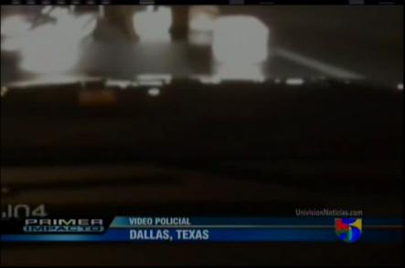 Mujer Borracha choca patrulla policía #Vídeo