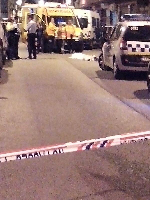 Imagen del cuerpo en la calle RIP Monkey Black