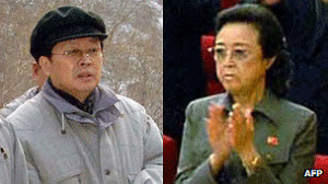 Kim Kyong-hui y Chang Song-taek