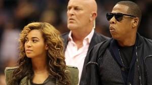 La cantante Beyonce y el rapero Jay-Z