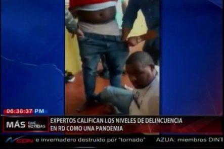 Expertos Consideran Como Una Pandemia Los Niveles De La Delincuencia En País