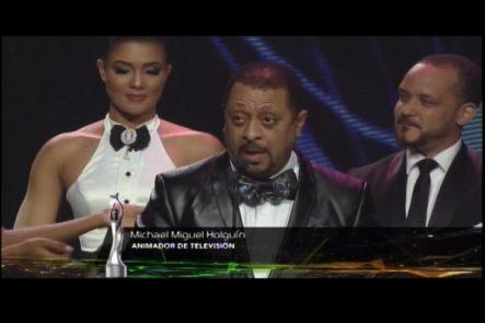 Michael Miguel Gana Premio Soberano A Mejor Animador De TV