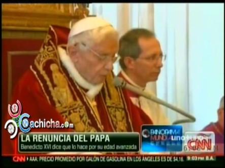 Momento de la Renuncia del Papa