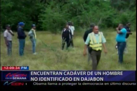 Encuentran Cadáver De Un Hombre No Identificado En Dajabón