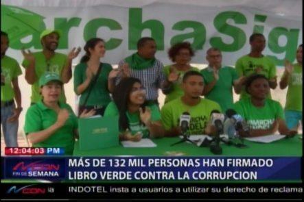 Más De 132 Mil Personas Han Firmado El Libro Verde Contra La Corrupción
