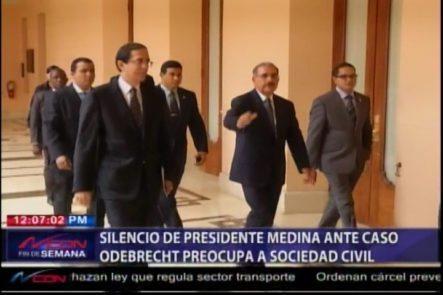 Silencio De Presidente Medina Ante Caso Odebrecht Preocupa A Sociedad Civil