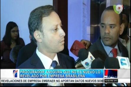 Procurador asegura que no es nuevo lo revelado por Empresa Brasileña en caso Super Tucanos